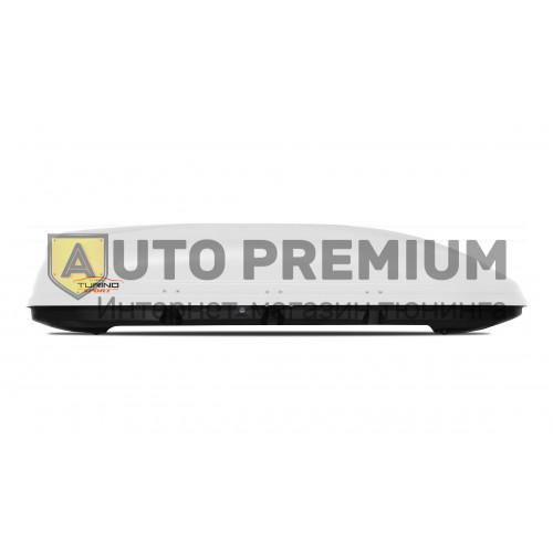Автобокс на крышу Белый Turino Sport (480 л) Аэродинамический на крышу автомобиля